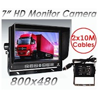 7in Monitor, CCD Reversing Camera & 2x 4PIN Cables