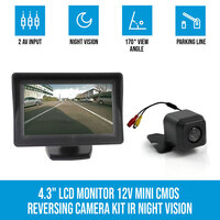 Reversing Camera 12V & 4.3in Rear View Monitor Kit