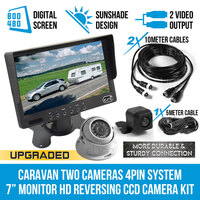 7in Monitor LCD & 2X Wide Angle Reversing Cameras