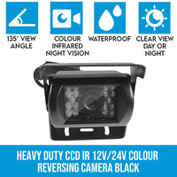 Heavy Duty CCD IR Colour Reversing Camera Black
