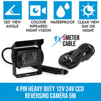 Heavy Duty CCD Colour Reversing Camera w/ 5m Cable