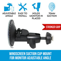 Windscreen Dash Suction Cup Mount For Monitor & GPS