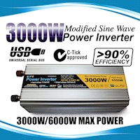 Modified Sine Wave USB Power Inverter 3000W - 6000W
