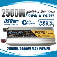 Modified Sine Wave USB Power Inverter 2500W - 5000W
