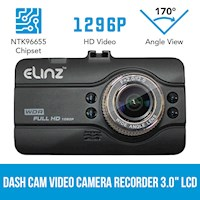 Full G Sensor HD LCD Car Dash Camera 3 Inch 12MP