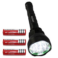 Cree 9 LED Flashlight w Rechargeable Batteries 500m