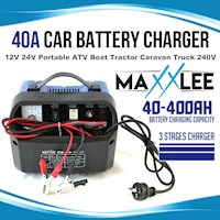 Maxxlee 3 Stage Portable Car Battery Charger 40A