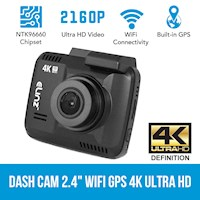 Ultra HD WiFi LCD Car Dash Cam w/ GPS 2.4 Inch 4K