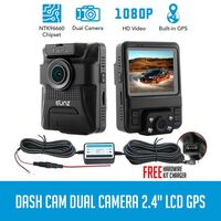 HD Dual LCD Car Dashboard Video Camera w GPS 1080HP
