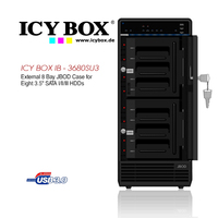 Icy Box  External 8 Bay Case For 8x3.5Inch SATA/HDD