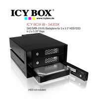 Icy Box Backplane For 3x3.5 Inch HDD/SSD