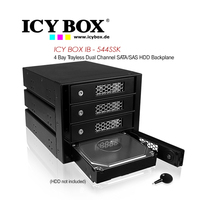 Icy Box 4 Bay Trayless Dual Channel HDD Backplane