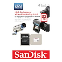 SanDisk High Endurance Video Monitoring Card with Adapter 32GB (SDSDQQ-032G)