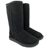 36907 MUBO UGG WOMEN'S LONG BOOTS BLACK COLOR