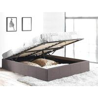 Double Size Fabric Gas Lift Bed Base in Grey
