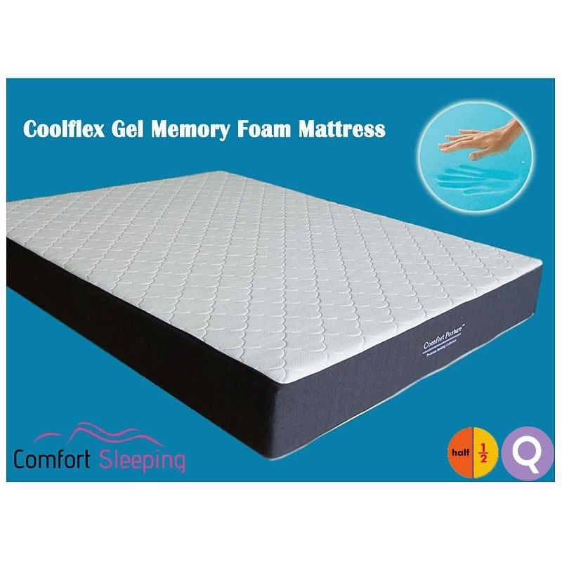 Half Queen Size Cool Gel Memory Foam Mattress Buy Memory Foam Mattresses
