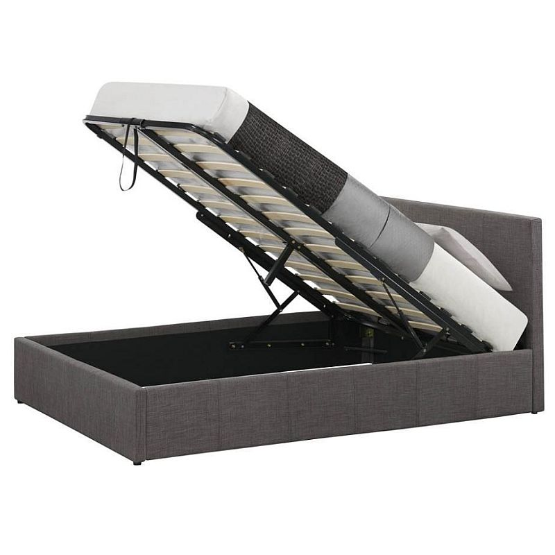 King Single Size Fabric Gas Lift Storage Bed Frame In Grey Buy