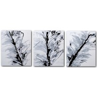 3 Canvas Abstract Painting #88 Black And White