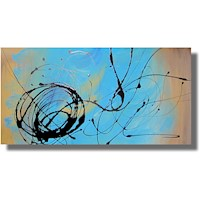 Abstract Canvas Painting #185 Blue Caramel