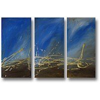 3 Canvas Abstract Painting #232