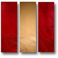 3 Canvas Abstract Painting #233