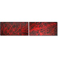 2 Canvas Abstract Painting #286
