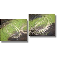 2 Canvas Abstract Painting #295