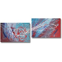 2 Canvas Abstract Painting #297
