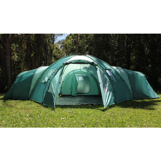 10 Man Family Camping Dome Tent With 4 Rooms