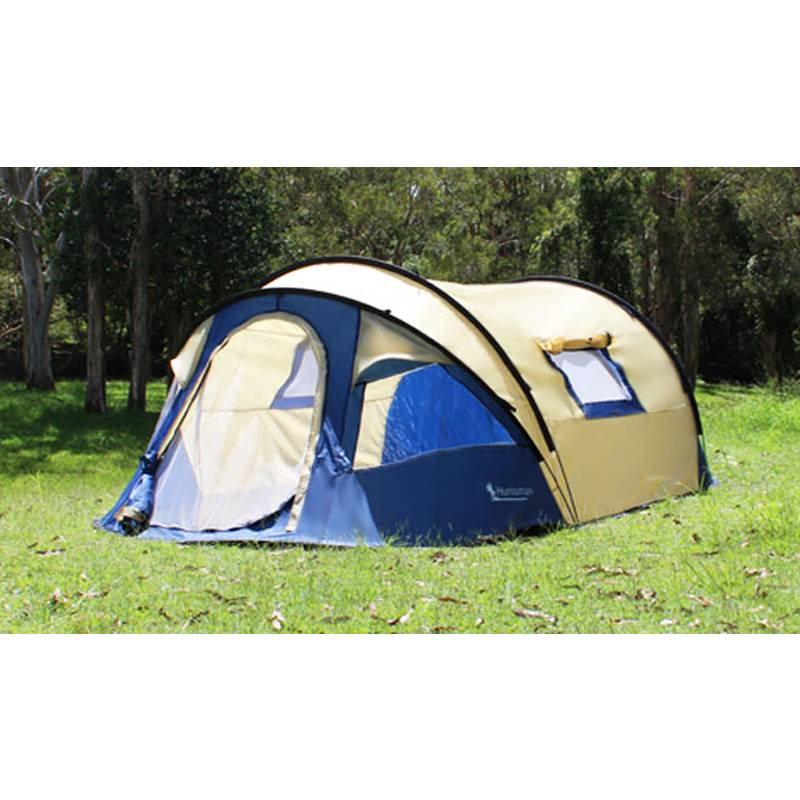 h m s Remaining  sc 1 st  MyDeal & 4 Man Huntsman Pop-Up Tent w/ Bag Guy Ropes u0026 Pegs | Buy Pop Up Tents
