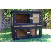 Brunswick Double Rabbit Guinea Pig Hutch Run Cage