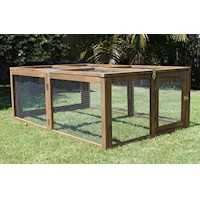 Brunswick Rabbit Run Hutch w/ 2 Doors & Hinged Roof
