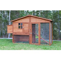 Aspen A-Frame Chicken Coop Run w/ 2 Nesting Boxes