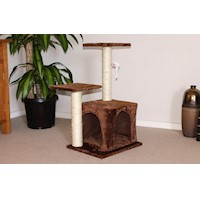 Greenwich Mocha Cat Tree with 2 Perches & Hideaway