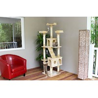 Madison Giant 7 Level Cat Scratcher in Ivory 183cm
