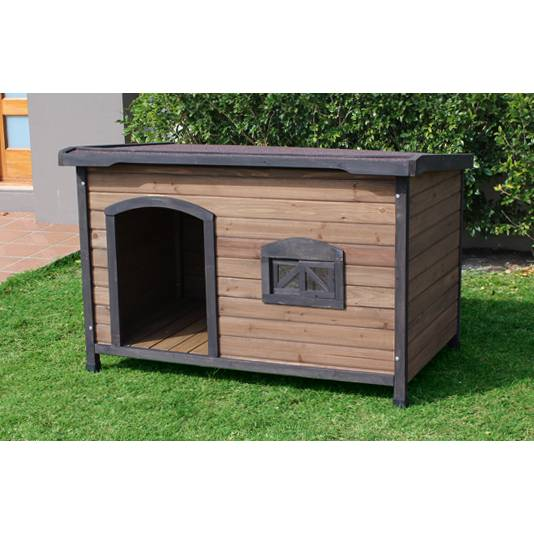 Brunswick x large wooden insulated flat dog house buy for Insulated dog house for sale