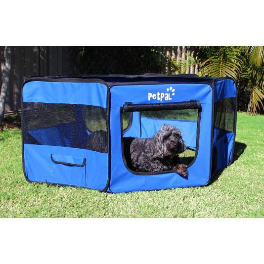 Petpal Royal Blue Dog Playpen For Small Dogs