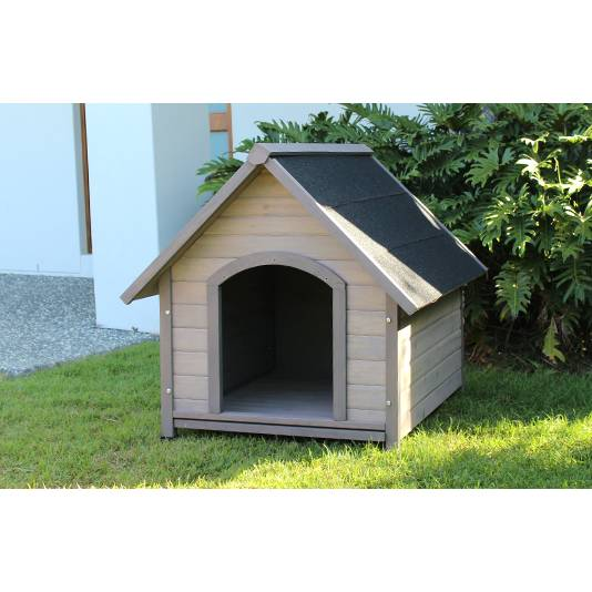 Large outdoor cedar insulated dog house kennel buy wood for Insulated dog house for sale
