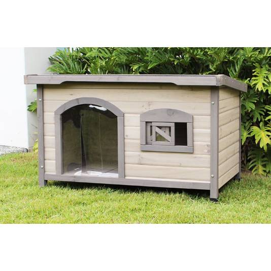 Somerset Large Wooden Insulated Flat Roof Dog House