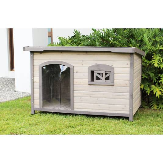 Extra large wooden insulated flat roof dog house buy dog for Insulated dog houses for large dogs