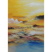 Coastal Wind Oil Painting Artwork 80x120cm