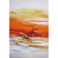 Coastal Sunset Oil Painting Artwork 80x120cm