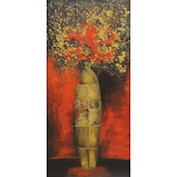 Floral Urn Oil Painting Artwork 70x140cm