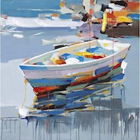 Boat in Oil 100x100cm Oil Painting Artwork