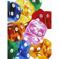 Dice Oil Painting Artwork 90x120cm