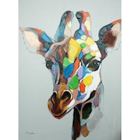 Giraffe Oil Painting Artwork 90x120cm