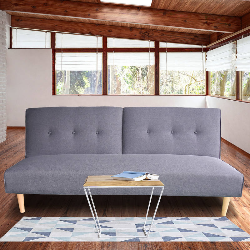 Soho 3 Seater Modular Linen Fabric Sofa Bed Couch Lounge