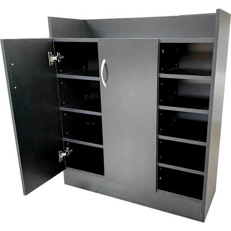 21 Pair Shoe Cabinet Storage Cupboard in Black | Buy Shoe ...