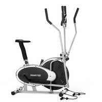 3-in-1 Elliptical Trainer & Exercise Bike w/ Bands