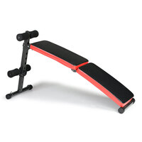 Home Gym Incline Weight Bench w/ Resistance Bands